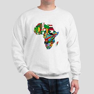 Flag Map of Africa Sweatshirt