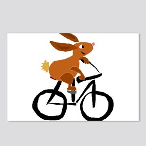 Funny Rabbit on Bicycle Postcards (Package of 8)