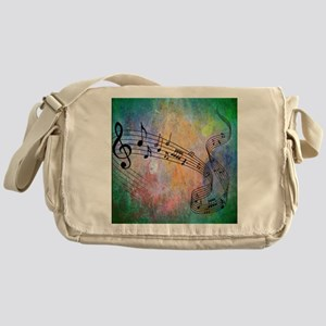 Abstract Music Messenger Bag