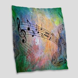Abstract Music Burlap Throw Pillow