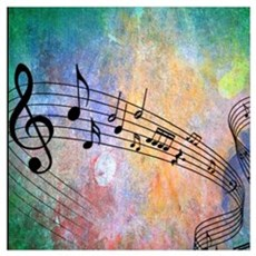 Abstract Music Canvas Art