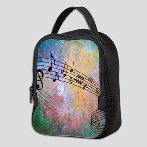 Abstract Music Neoprene Lunch Bag
