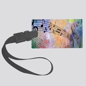 Abstract Music Large Luggage Tag