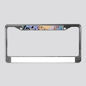 Abstract Music License Plate Frame