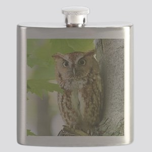 Red Sreech Owl Flask