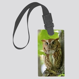 Red Sreech Owl Large Luggage Tag