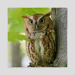 Red Sreech Owl Queen Duvet