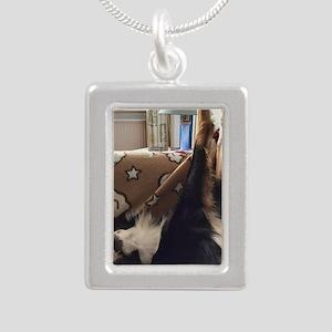 Crisp Silver Portrait Necklace