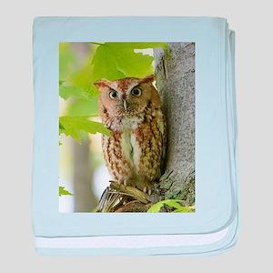 Red Sreech Owl baby blanket