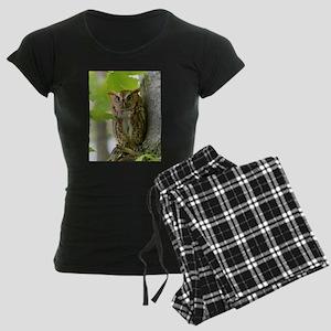 Red Sreech Owl Women's Dark Pajamas