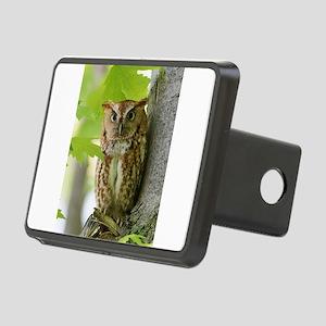 Red Sreech Owl Rectangular Hitch Cover