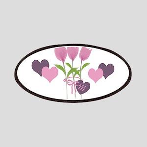Pink Tulip Monogram Patch