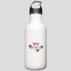 Pink Tulip Monogram Stainless Water Bottle 1.0L