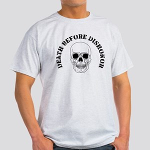 Skull - Death Before Dishonor 007 Light T-Shir
