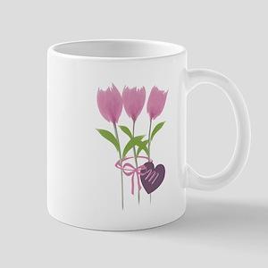 Pink Tulip Monogram Mug