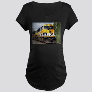 Alaska Railroad engine locomotiv Maternity T-Shirt