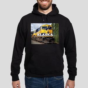 Alaska Railroad engine locomotive 2 Hoodie (dark)