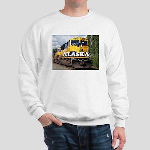 Alaska Railroad engine locomotive 2 Sweatshirt