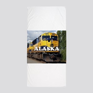 Alaska Railroad engine locomotive 2 Beach Towel