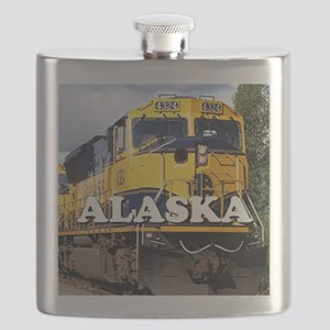 Alaska Railroad engine locomotive 2 Flask