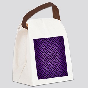 WOVEN2 BLACK MARBLE & PURPLE BRUS Canvas Lunch Bag