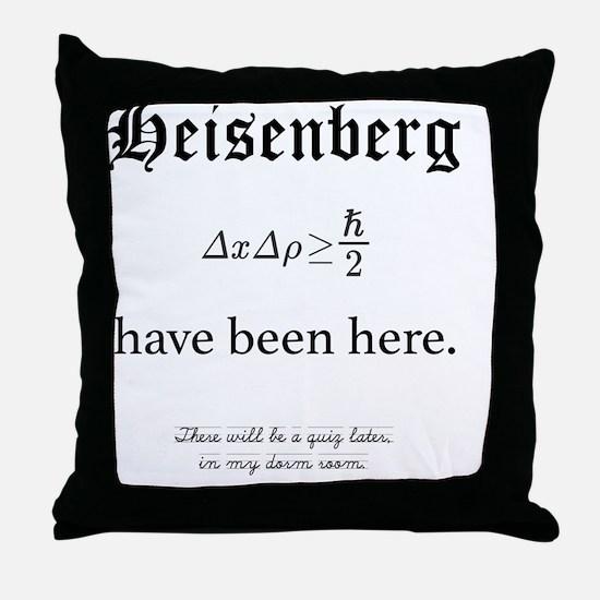 Heisenberg Quiz Throw Pillow