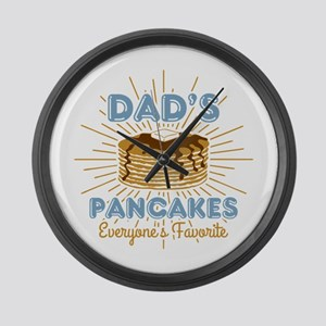 Dad's Pancakes Large Wall Clock