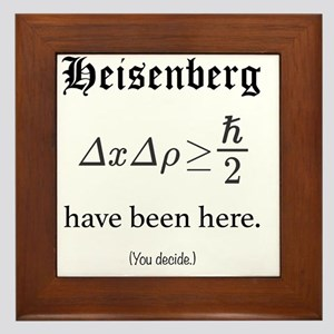 Heisenberg Observer Framed Tile