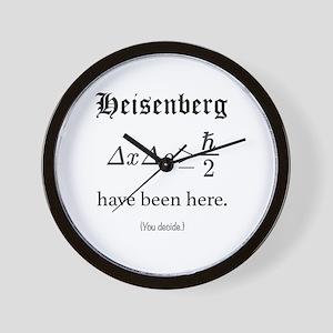 Heisenberg Observer Wall Clock