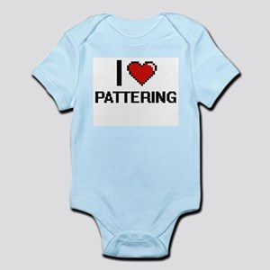 I Love Pattering Digital Design Body Suit