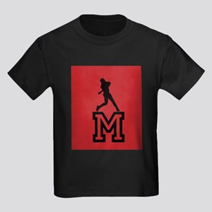 Cool Bright Monogram Kids Dark T-Shirt