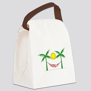 Beautiful Life Canvas Lunch Bag