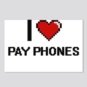 I Love Pay Phones Digital Postcards (Package of 8)