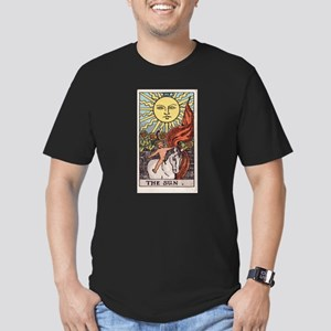 """The Sun"" Men's Fitted T-Shirt (dark)"