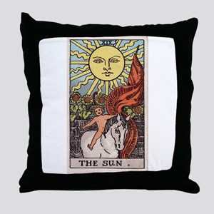 """The Sun"" Throw Pillow"
