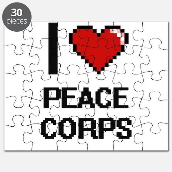 I Love Peace Corps Digital Design Puzzle