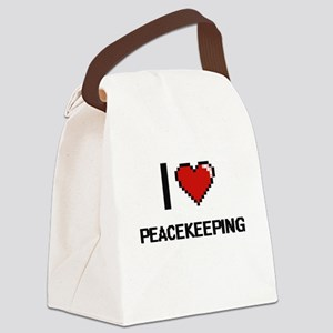 I Love Peacekeeping Digital Desig Canvas Lunch Bag