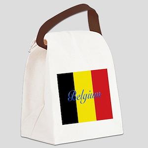Belgium Flag Canvas Lunch Bag