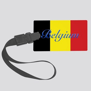 Belgium Flag Large Luggage Tag