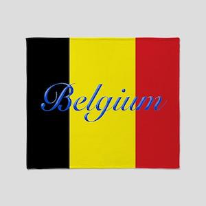 Belgium Flag Throw Blanket