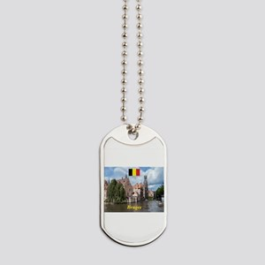 Stunning! Bruges canal Dog Tags