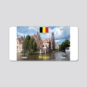Stunning! Bruges canal Aluminum License Plate