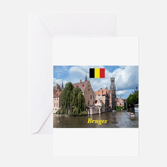 Stunning! Bruges canal Greeting Cards