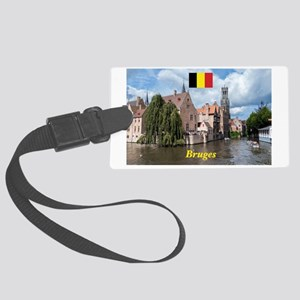 Stunning! Bruges canal Large Luggage Tag