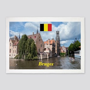 Stunning! Bruges canal 5'x7'Area Rug