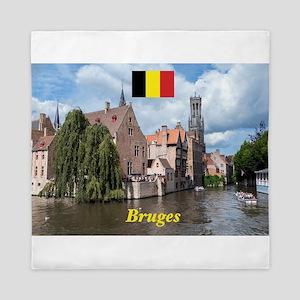 Stunning! Bruges canal Queen Duvet