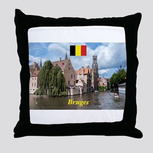Stunning! Bruges canal Throw Pillow