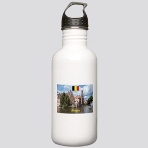 Stunning! Bruges canal Sports Water Bottle