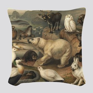 Arctic Animals Woven Throw Pillow