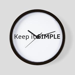 Keep It Simple Wall Clock